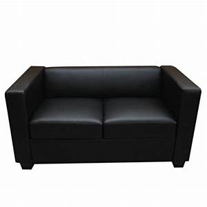 Lounge Sofa Leder : 2er sofa couch loungesofa lille leder schwarz m bel24 ~ Watch28wear.com Haus und Dekorationen