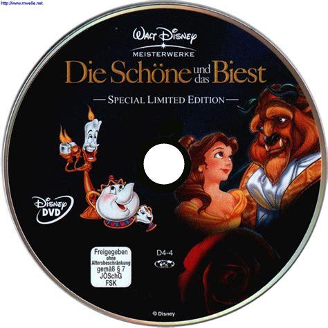 Die schöne und das Biest - Walt Disney dvd cover & label