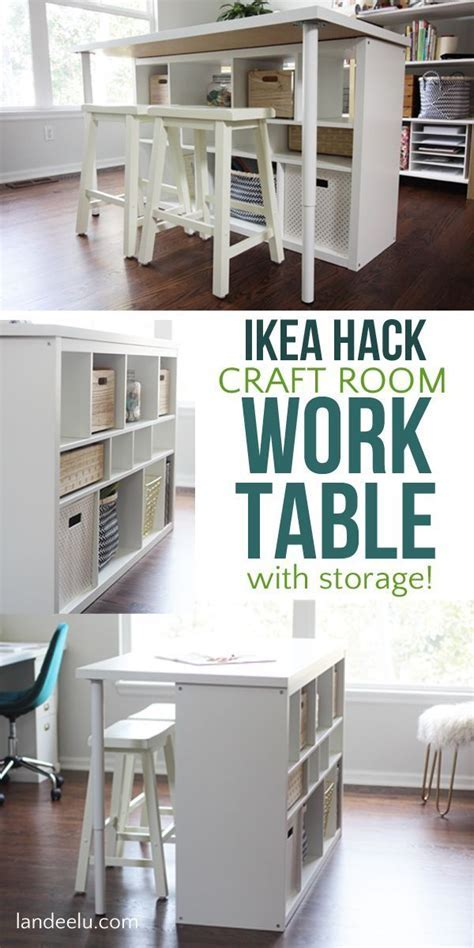 IKEA Hack Craft Room Table   An Easy IKEA Hack For Your
