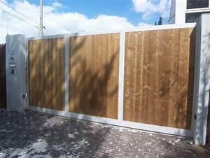 Portail En Bois Pas Cher : portail coulissant bois pas cher portail solde amaranthes ~ Melissatoandfro.com Idées de Décoration