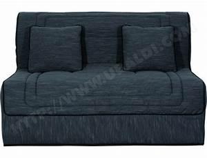 canape lit ub design tempete bz 140x190 gris pas cher With canapé lit 140x190