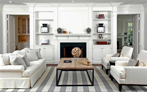 Striped Rug In Living Room : Brooks & Falotico