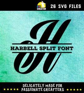 Cricut Split Monogram SVG Fonts