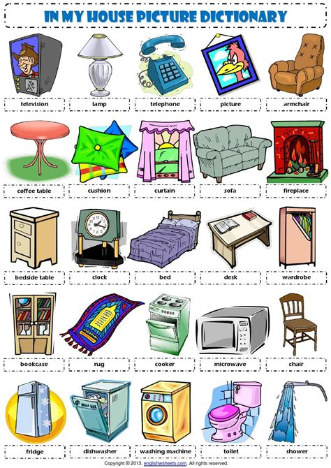 Living Room Vocabulary With Pictures by Pin De Rhishikesh Kinhikar Em Vocabulary
