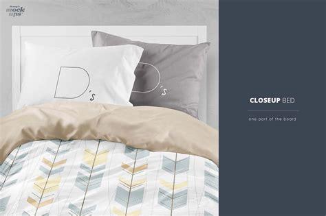 bed linen mockup psd