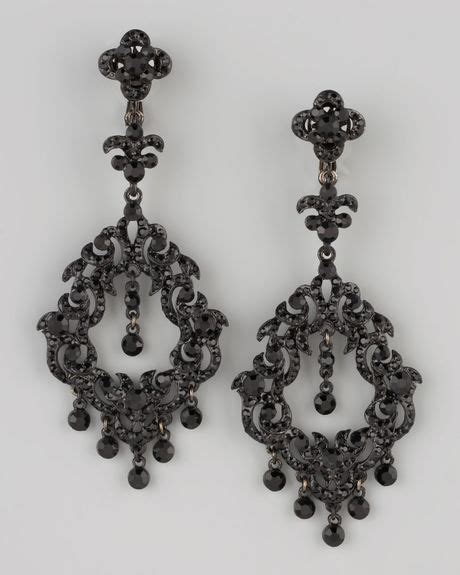 jose barrera chandelier earrings in black lyst