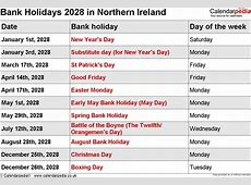 Bank Holidays 2028 in the UK