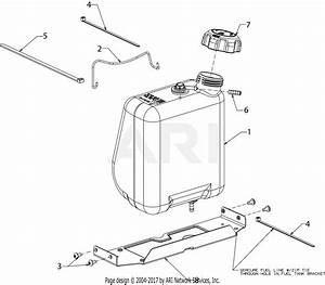Mtd 13w878st031 Lt 4600  2016  Parts Diagram For Fuel Tank