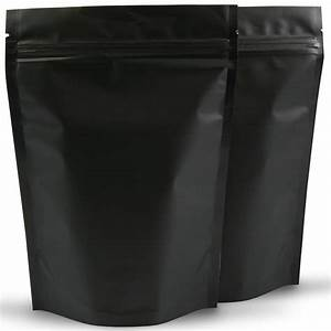 500g Matte Black Stand Up Pouch 100 Per Carton