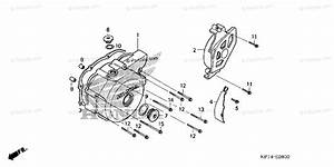 Honda Motorcycle 2003 Oem Parts Diagram For Left Crankcase Cover  1