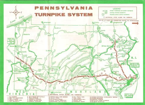 pennsylvania map turnpike