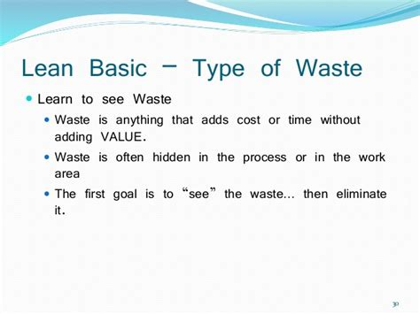 Lean Six Sigma  Waste Elimination (yellow Belt