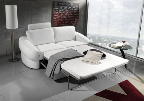 canape convertible en cuir et tissu de seanroyale