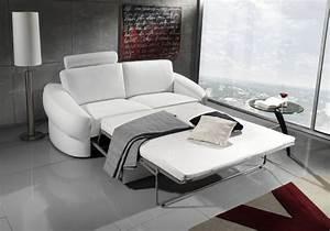 un canape en cuir convertible et pratique blog de With canapé lit pratique