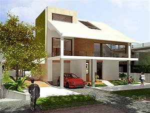 F-house simple modern house architecture concept design ...