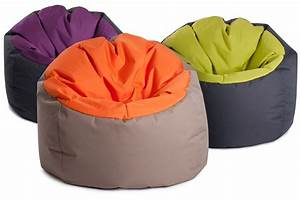 Gros Pouf Rond : pouf geant bowly bicolore super confortable jumbo bag so nuit ~ Teatrodelosmanantiales.com Idées de Décoration