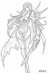 Zheng Steve Coloring Drawings Fairy Sketches Dragon Line Anime Drawing Nest Artstation Reference Poses Sketch Character Colouring Manga Figure Illustration sketch template
