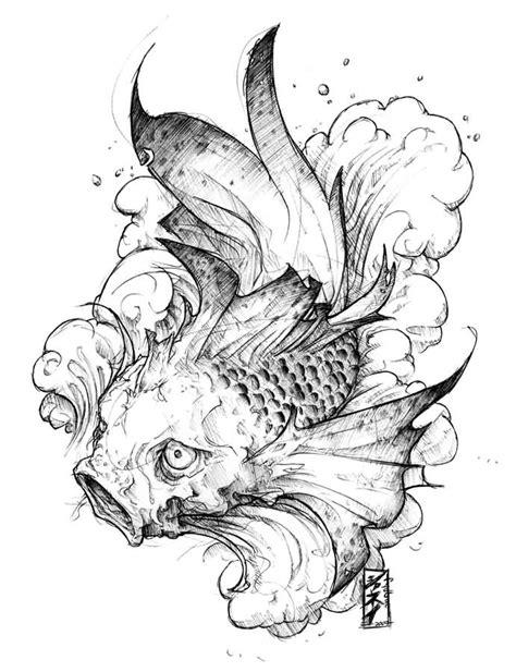 Koi Fish Dragon Drawing at GetDrawings | Free download