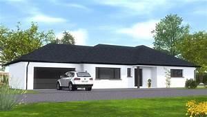 Maison Plain Pied En L : construction maison de plain pied maisons begi ~ Melissatoandfro.com Idées de Décoration