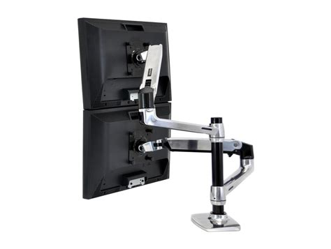 ergotron lx dual stacked desk mount lcd arm radius office