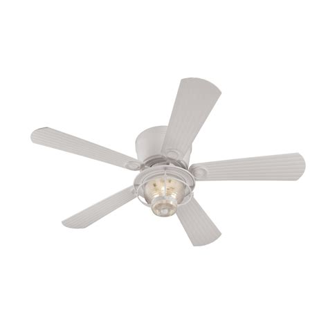 white flush mount ceiling fan shop harbor breeze merrimack 52 in white flush mount