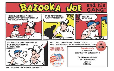 bazooka joe bazooka joe s at the brockley social club 11th october 2014 dino collective
