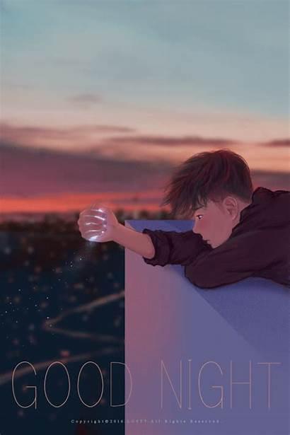 Aesthetic Anime Scenery Animation Night Boy Character