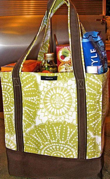 ez grocery bag tutorial allfreesewingcom