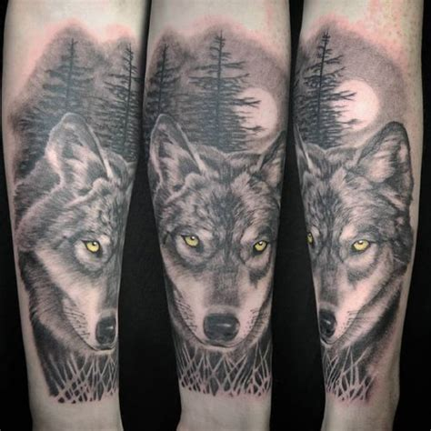 lovely lone wolf tattoos   styles