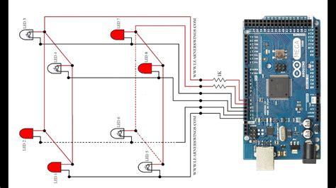 2 2 2 led cube demo for beginners using arduino mega