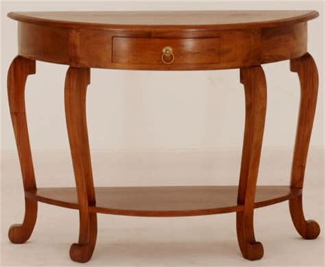 half circle console table with drawers 1 drawer half round sofa table country interiors