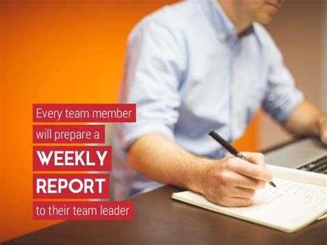 lets communicate implementing weekly team report writing