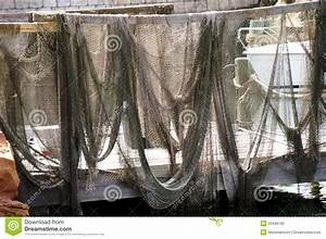 Fishing Nets Hanging Up To Dry Royalty Free Stock Photo ...