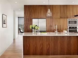 la cuisine bois brut adopte un look design moderne With cuisine bois design