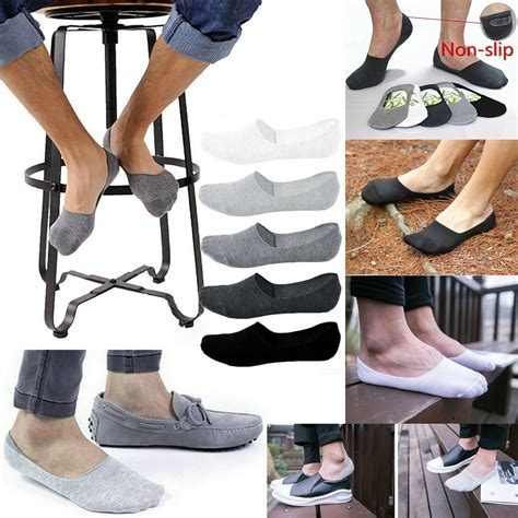 ankle men cotton loafer summer breathable invisible