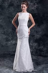 allens bridal lace bateau neckline floor length sheath With bateau neckline wedding dress