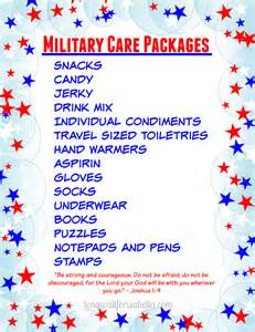 printable care package list and gift ideas