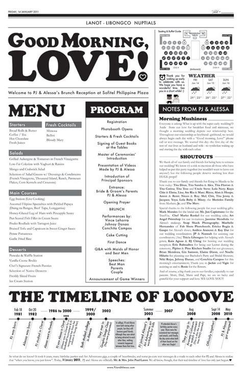 wedding engagement newspaper templates images