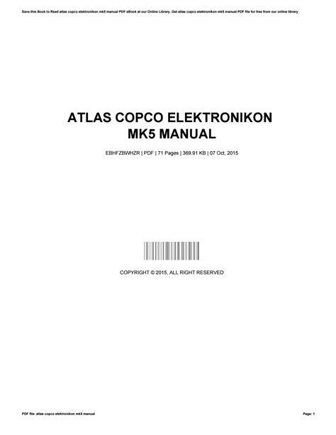 atlas copco elektronikon mk manual  nancyrice issuu