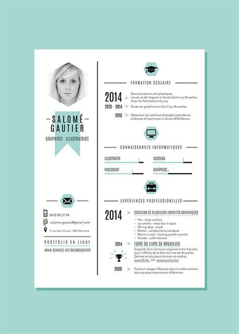 34 outside the box cv resume designs web graphic