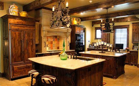 tuscan kitchen double island mediterranean kitchen dallas  studio  designs