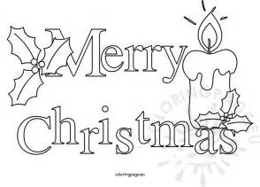 merry text black and white coloring page