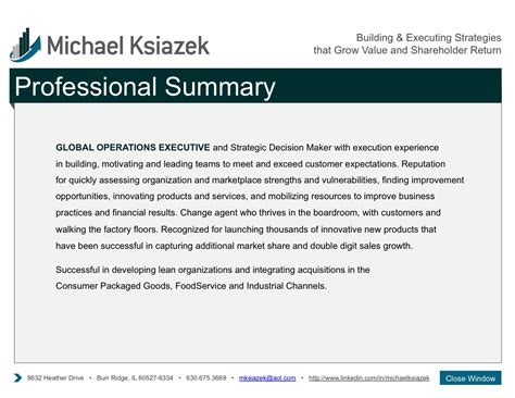 professional summary for resume 28 images exles of