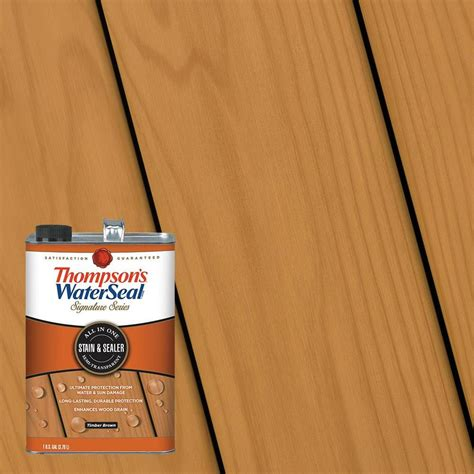shop thompsons waterseal pre tinted timber brown semi