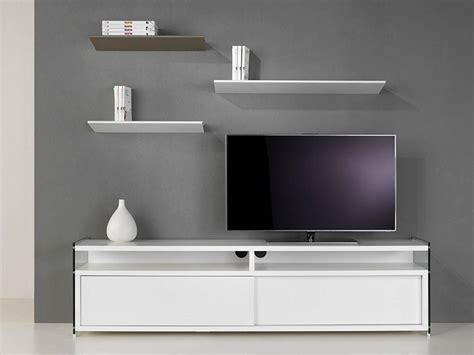 meuble en meuble tv en verre et bois media