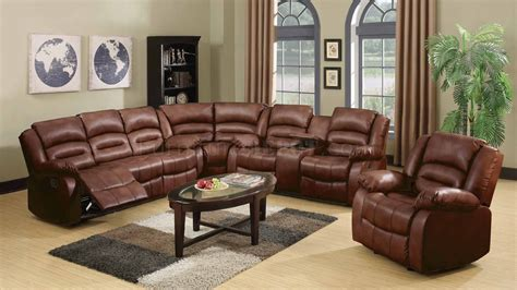 Sectional Loveseat by 9172 9242 Reclining Sectional Sofa In Brown Bonded Leather