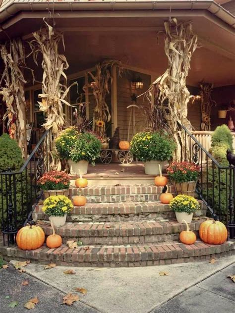 Ideas For Fall Front Porch by 90 Fall Porch Decorating Ideas Shelterness Fall
