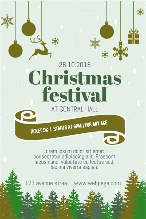diy christmas poster festival collections
