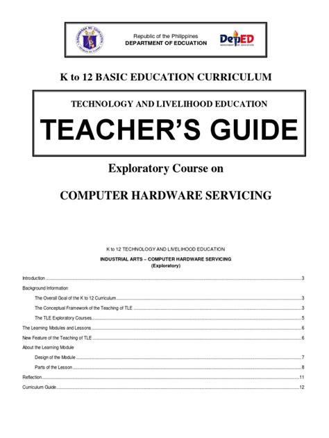 pc hardware servicing teachers guide