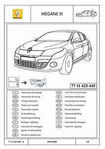 7711425445 Lower Radiator Grille Trim Fitting Instructions